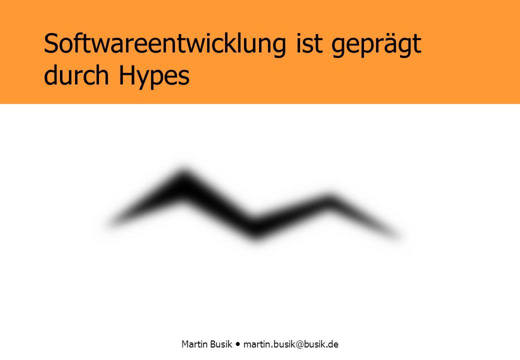 Martin Busik martin.busik@busik.de Softwareentwicklung ist geprägt durch Hypes