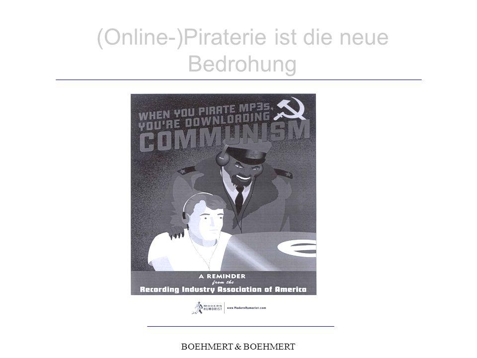 BOEHMERT & BOEHMERT (Online-)Piraterie ist die neue Bedrohung
