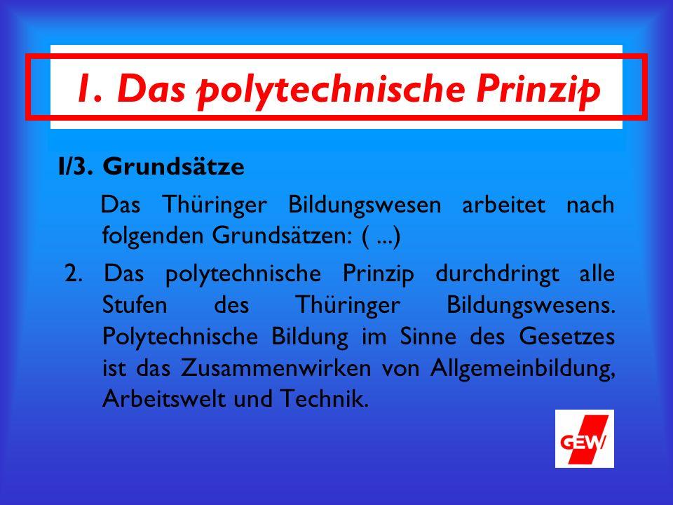 1. Das polytechnische Prinzip I/3.