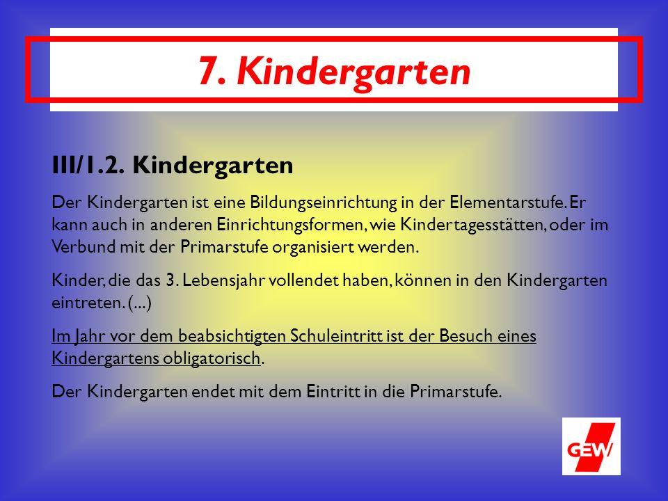7. Kindergarten III/1.2.