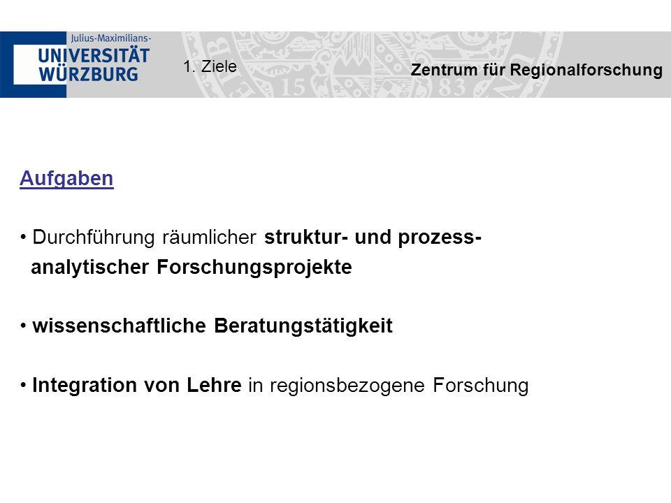 Zentrum für Regionalforschung 2.Struktur Vorstand Prof.
