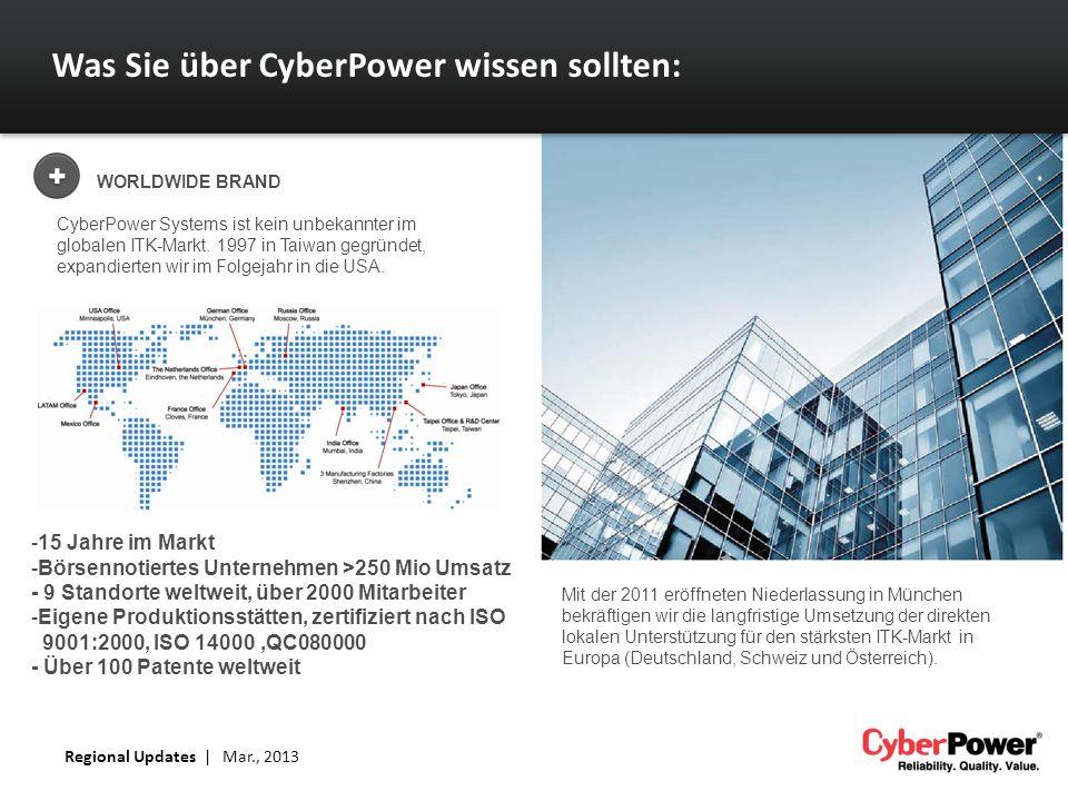 Was Sie über CyberPower wissen sollten: WORLDWIDE BRAND CyberPower Systems ist kein unbekannter im globalen ITK-Markt. 1997 in Taiwan gegründet, expan