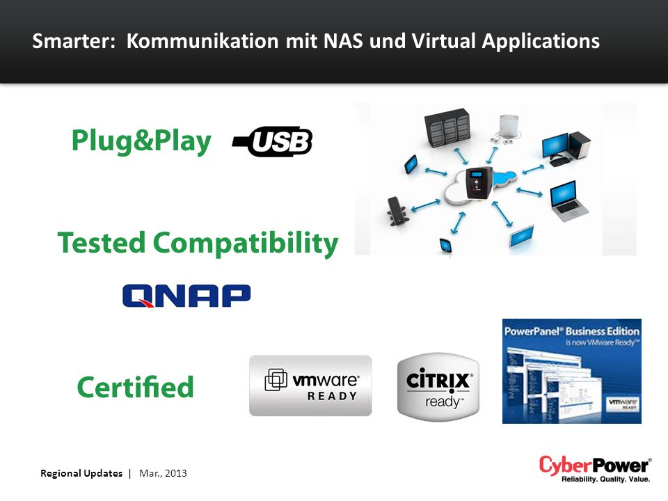 Smarter: Kommunikation mit NAS und Virtual Applications Regional Updates | Mar., 2013