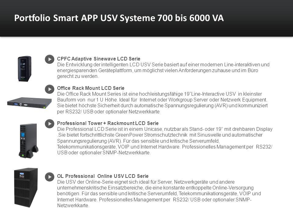 CPFC Adaptive Sinewave LCD Serie Die Entwicklung der intelligenten LCD USV Serie basiert auf einer modernen Line-interaktiven und energiesparenden Ger