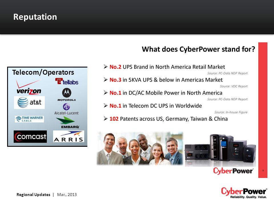 Reputation Regional Updates   Mar., 2013 Telecom/Operators