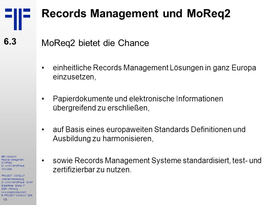 108 BBK Kolloqium Records Management & MoReq2 Dr.