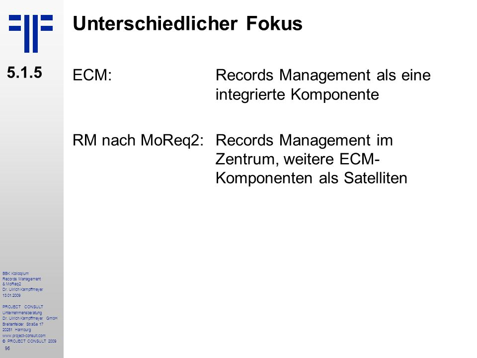 96 BBK Kolloqium Records Management & MoReq2 Dr.