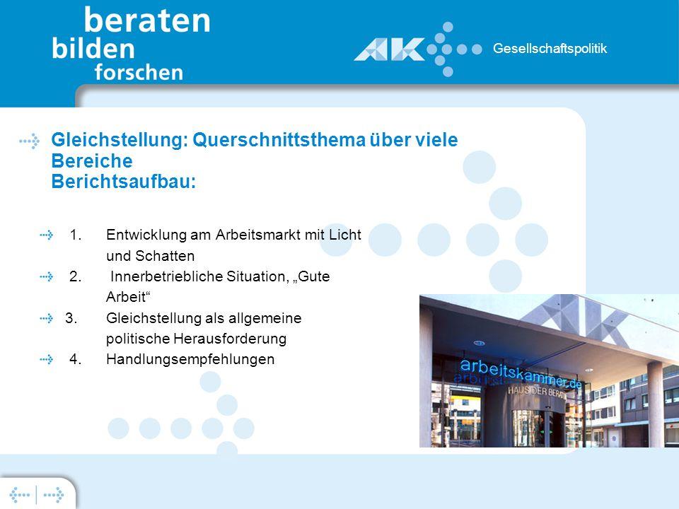 1. Entwicklung am Arbeitsmarkt mit Licht und Schatten 2.