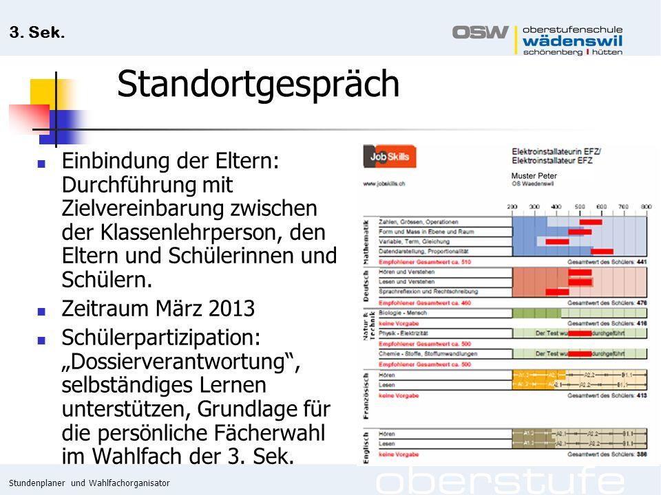 Stundenplaner und Wahlfachorganisator 3. Sek.
