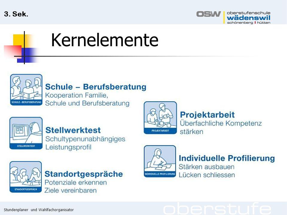 Stundenplaner und Wahlfachorganisator 3. Sek. Anmeldeformular Modul Wahl-/Vertiefungsbereich