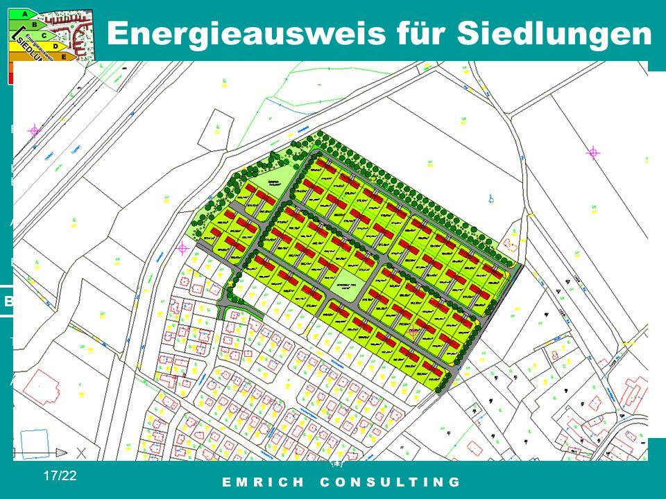 Energieausweis für Siedlungen 17/22 Eingaben Berechnung / Bewertung Ausgabe Ergebnis Beispiele Tipps Ausblick Beispiele St. Pölten – Baurechtsgründe R