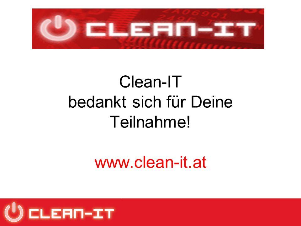 Clean-IT bedankt sich für Deine Teilnahme! www.clean-it.at