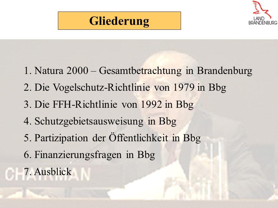 1.Natura 2000 – Gesamtbetrachtung in Brandenburg 2.