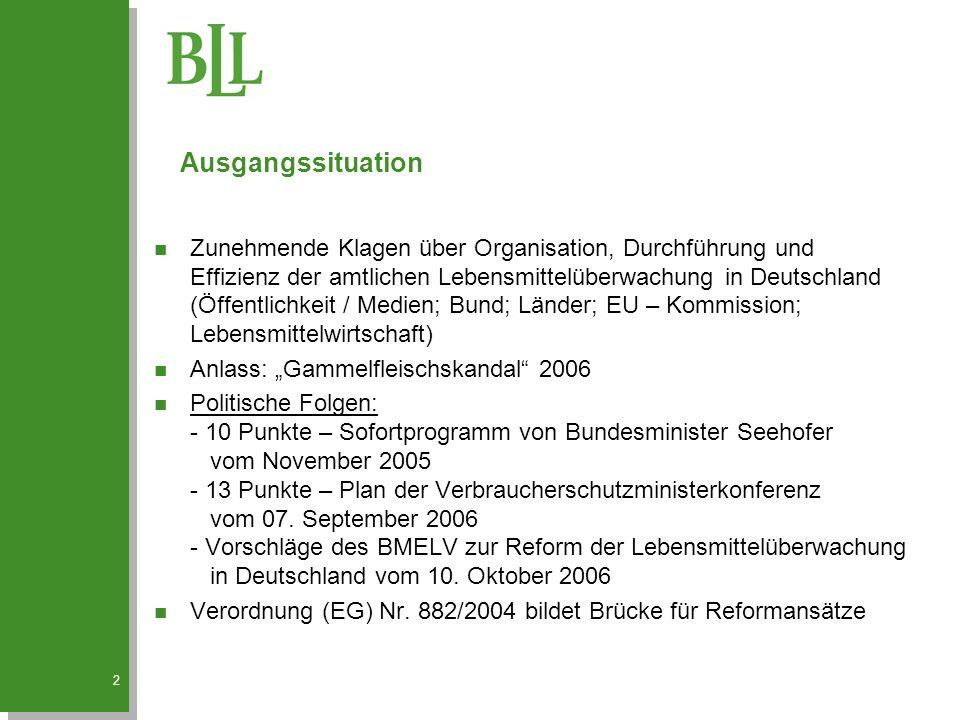 2 n Zunehmende Klagen über Organisation, Durchführung und Effizienz der amtlichen Lebensmittelüberwachung in Deutschland (Öffentlichkeit / Medien; Bun