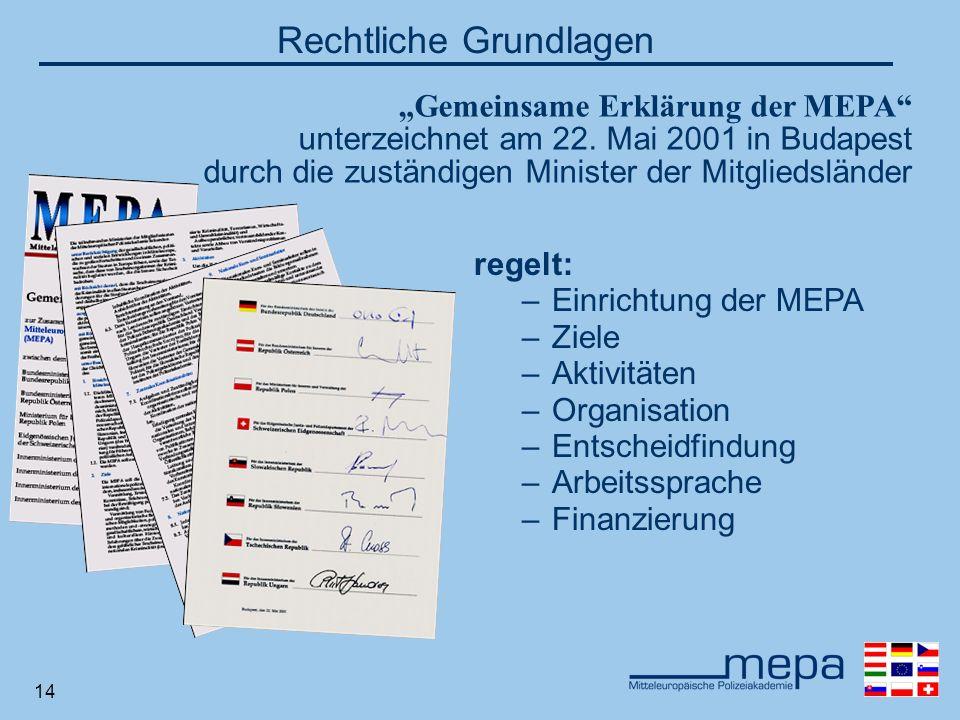 14 Gemeinsame Erklärung der MEPA unterzeichnet am 22.