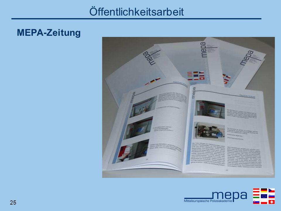 25 Öffentlichkeitsarbeit MEPA-Zeitung
