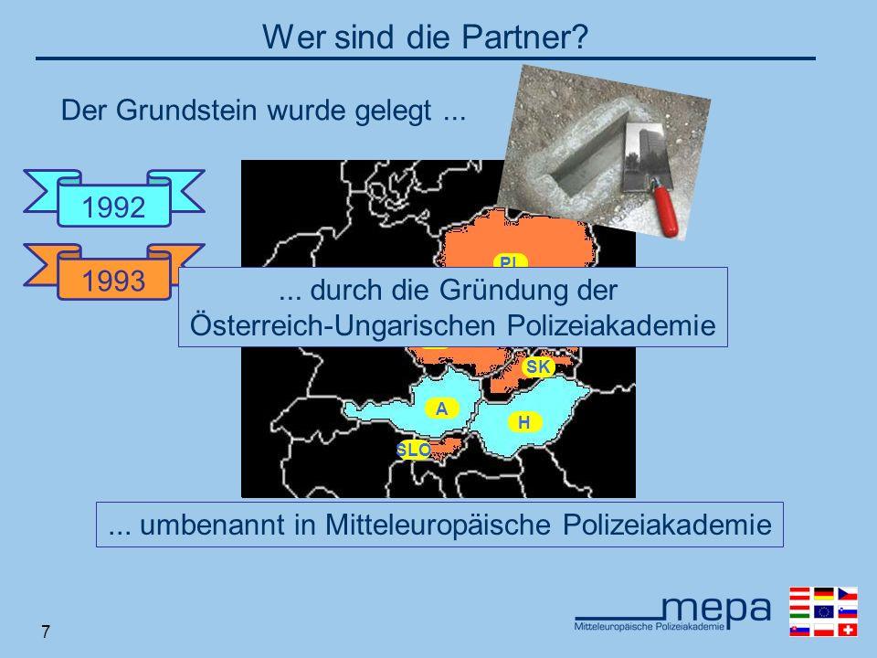 7 A H SLO CZ SK PL A H 1993 Wer sind die Partner.1992...