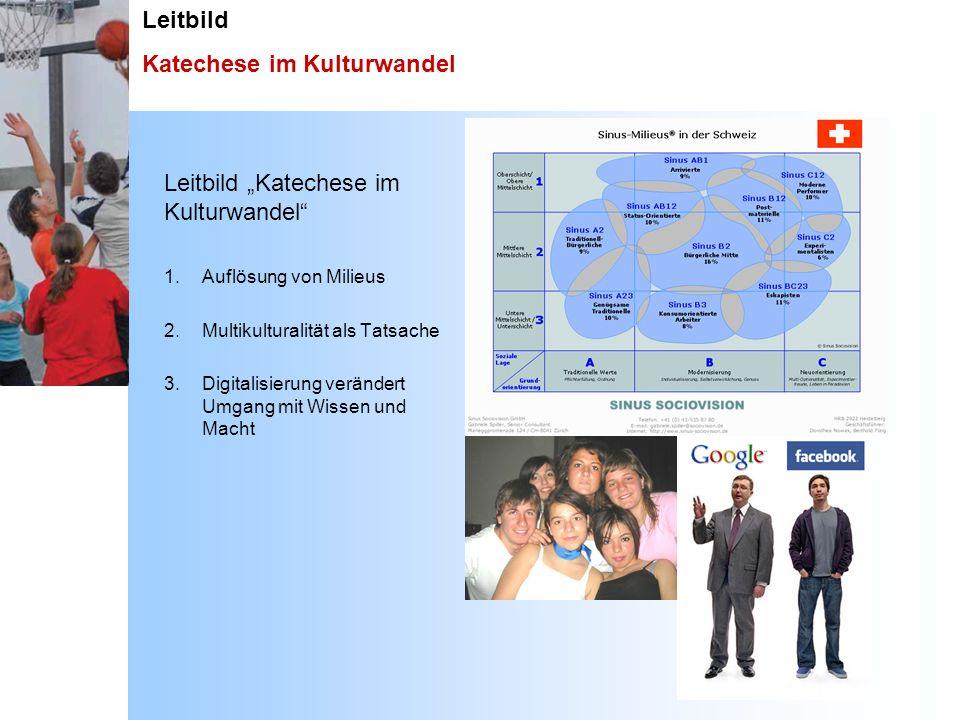 Leitbild Katechese im Kulturwandel Leitbild Katechese im Kulturwandel 1. Auflösung von Milieus 2. Multikulturalität als Tatsache 3. Digitalisierung ve