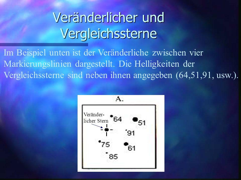 Dezimalzeichen können verwirren Die Sternhelligkeiten werden normalerweise mit einer Nachkommastelle angegeben.
