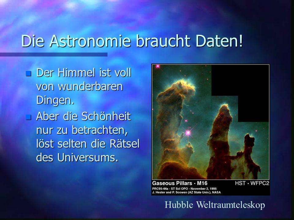 Astronomische Theorien brauchen Daten.