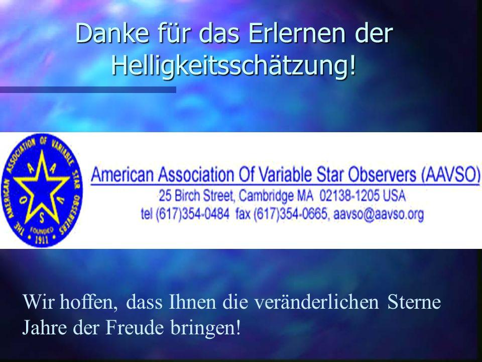 Schätzen der Sternhelligkeit: Erste Schritte in der Astronomie der veränderlichen Sterne n Basiert auf Hands-On Astrophysics: Variable Stars in Science, Math, and Computer Education by Janet A.
