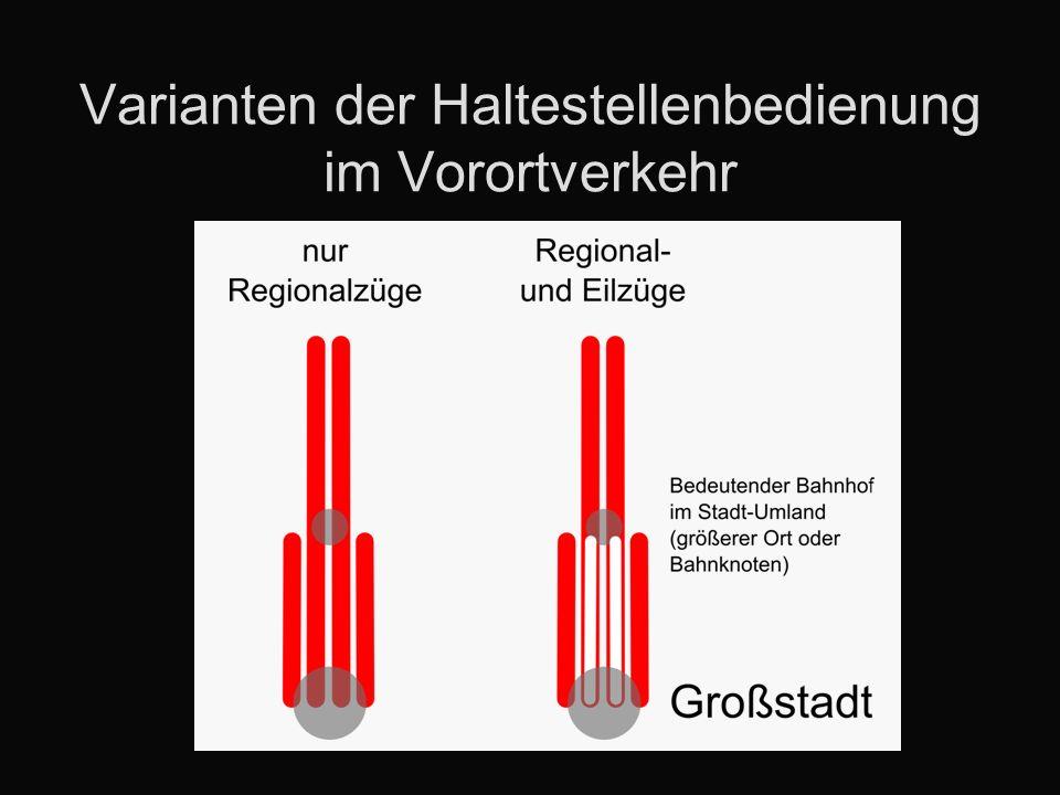 Kosten nach Traktionssystem Unterschiedliche Ergebnisse auf den einzelnen Streckenbündeln Vergleich nur für die Hauptvarianten mit direkten Linien (allgemein eher ungünstiger) Varianten mit Hybridgarnituren zumeist gleich oder teurer, als konventionelle Auf drei Strecken ist Elektrifizierung günstiger, auf einer Dieselantrieb auch unter Fahrdraht