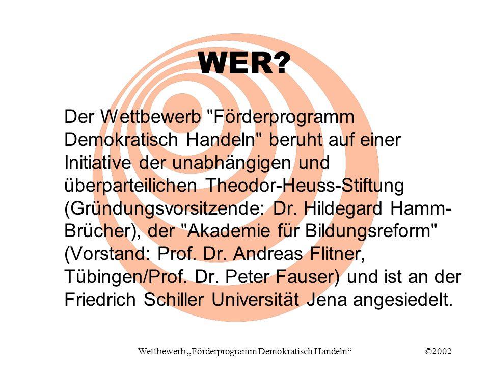 ©2002Wettbewerb Förderprogramm Demokratisch Handeln WER.