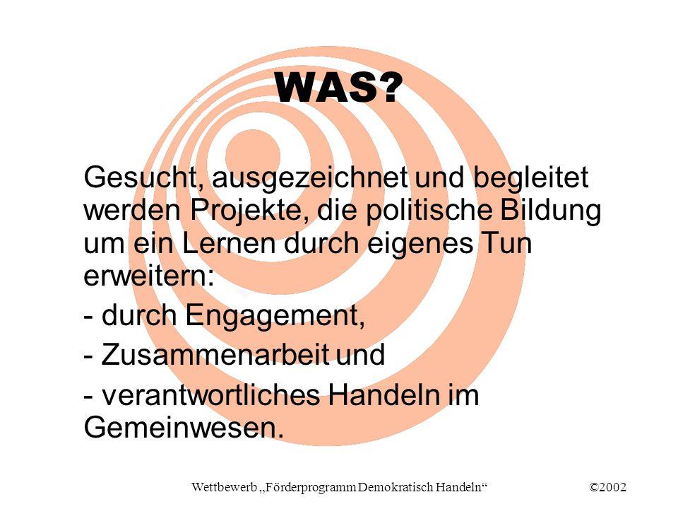 ©2002Wettbewerb Förderprogramm Demokratisch Handeln WAS.
