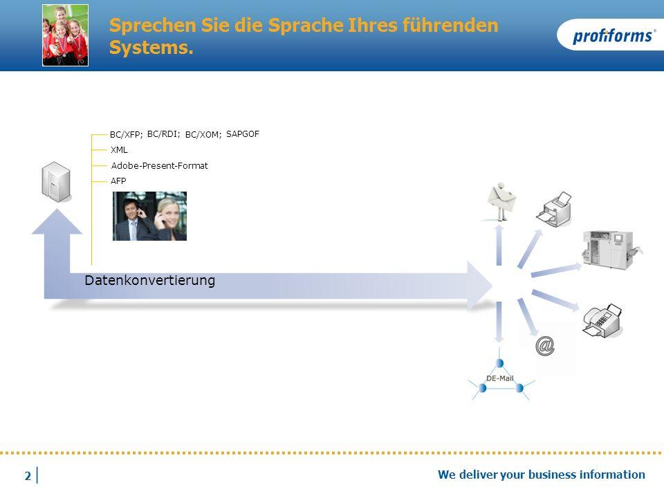 3 |3 | We deliver your business information Koordinieren Sie ein starkes Team.