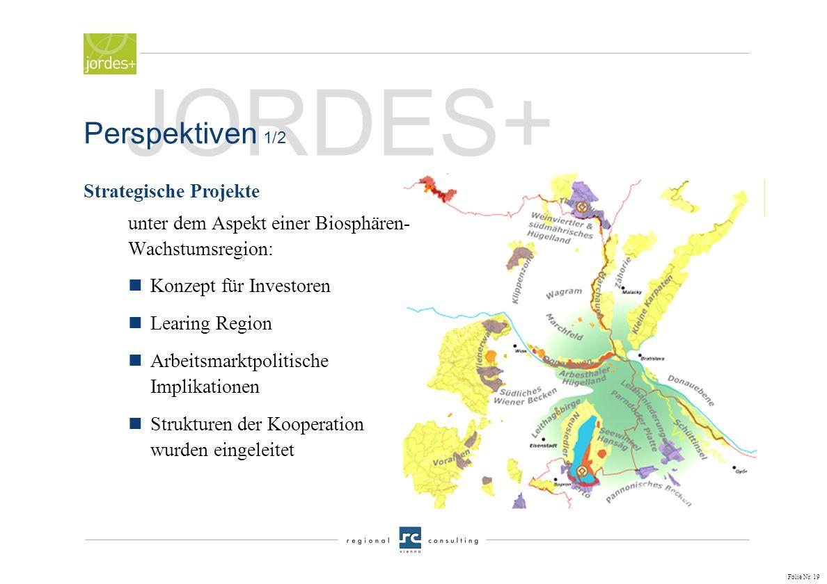 Folie Nr. 18 JORDES+ nBiosphärenregion und Leitbild Grüne Mitte nOrganisationsmodell Siedlungs- und Verkehrsentwicklung und deren Wirkungsbeziehungen