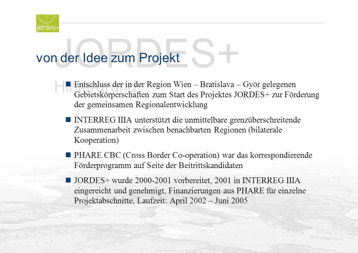 Folie Nr. 5 JORDES+ Hintergrund nder Beitritt der Slowakei und Ungarns zur EU ndie Programme INTERREG IIIA und Phare CBC der EU sind auf die notwendig