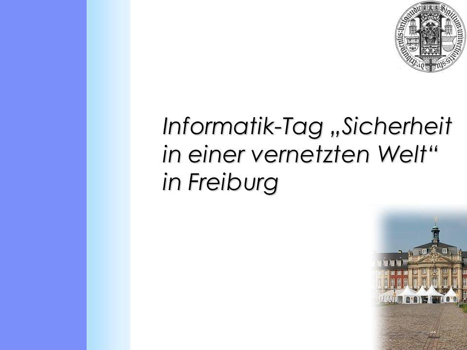 Informatik-Tag Sicherheit in einer vernetzten Welt in Freiburg