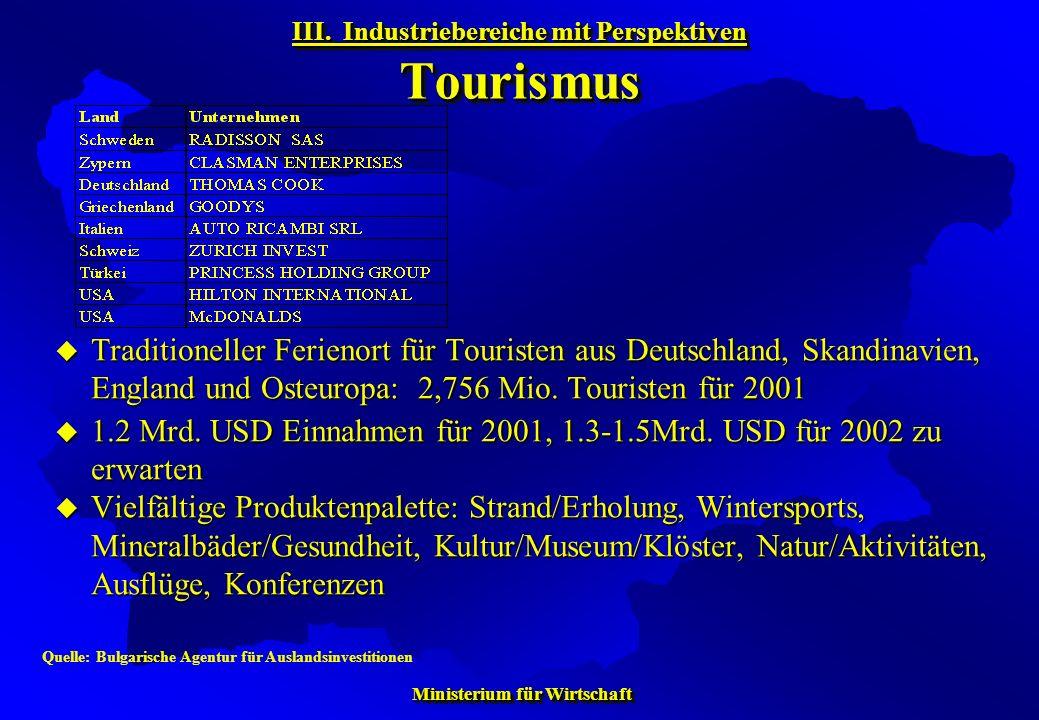 Ministerium für Wirtschaft Ministerium für Wirtschaft Traditioneller Ferienort für Touristen aus Deutschland, Skandinavien, England und Osteuropa: 2,7