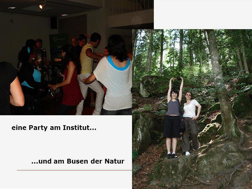 eine Party am Institut......und am Busen der Natur