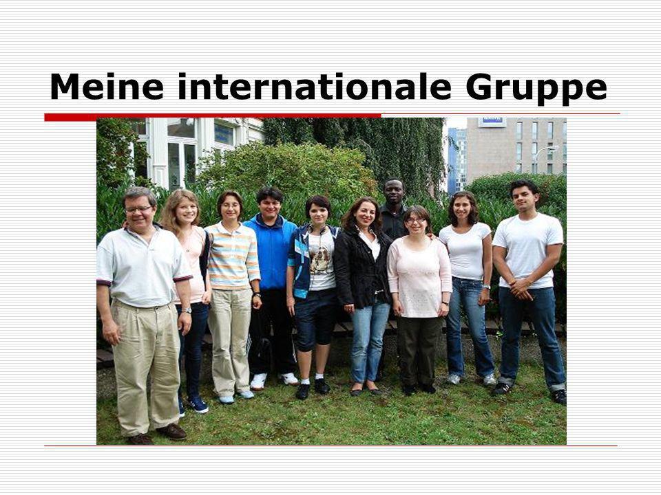 Meine internationale Gruppe