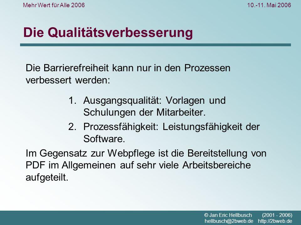 Mehr Wert für Alle 200610.-11.