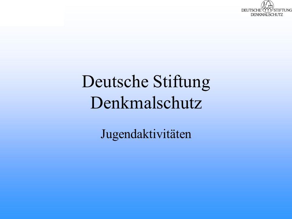 Deutsche Stiftung Denkmalschutz Jugendaktivitäten