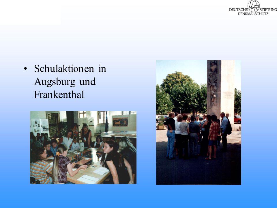 Schulaktionen in Augsburg und Frankenthal