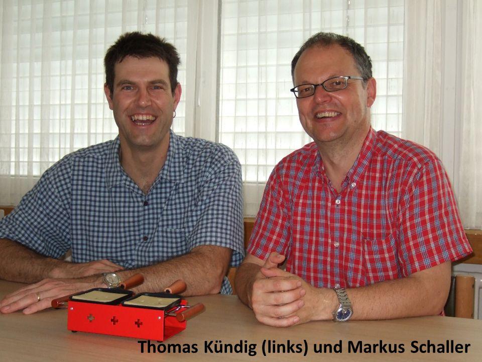 Thomas Kündig (links) und Markus Schaller