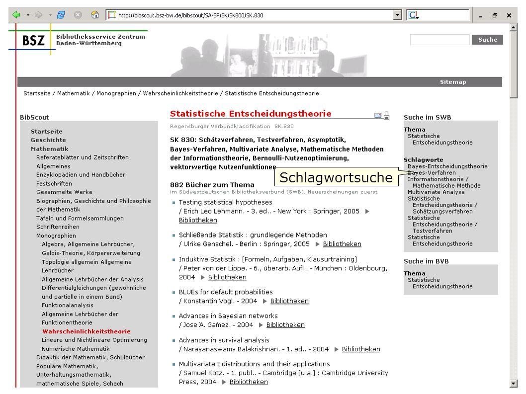 Flagge zeigen im Web W. Heymans, BSZ10 Schlagwortsuche