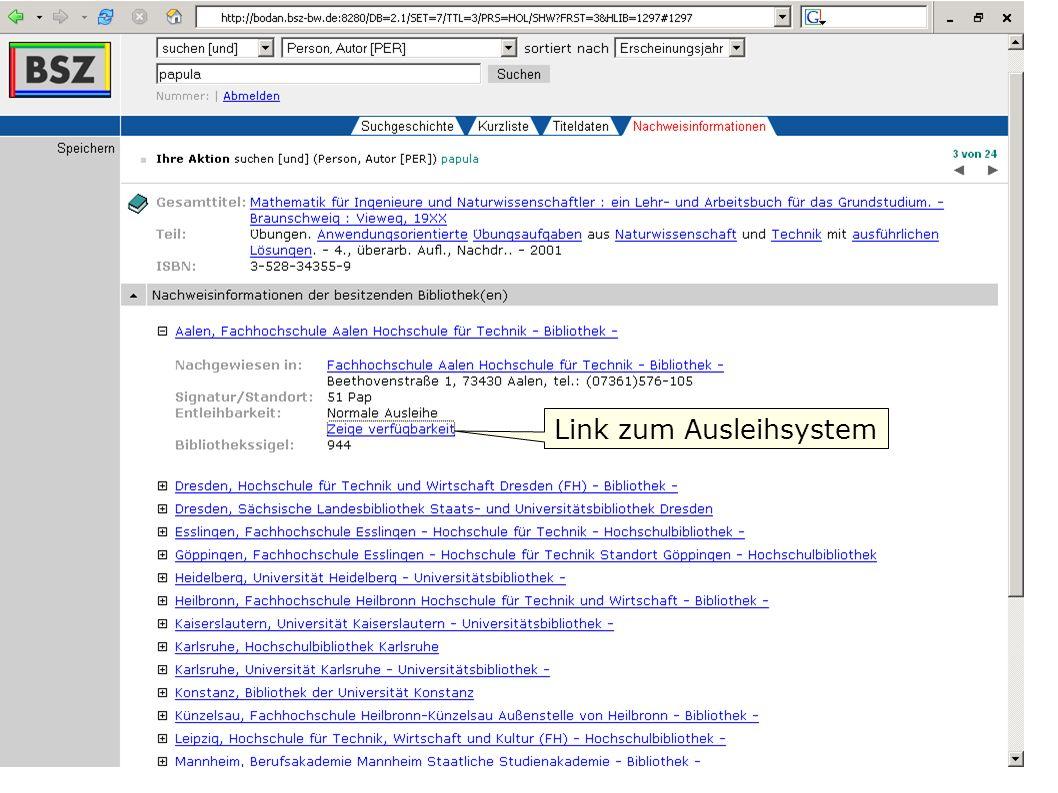 Flagge zeigen im Web W. Heymans, BSZ15 Link zum Ausleihsystem
