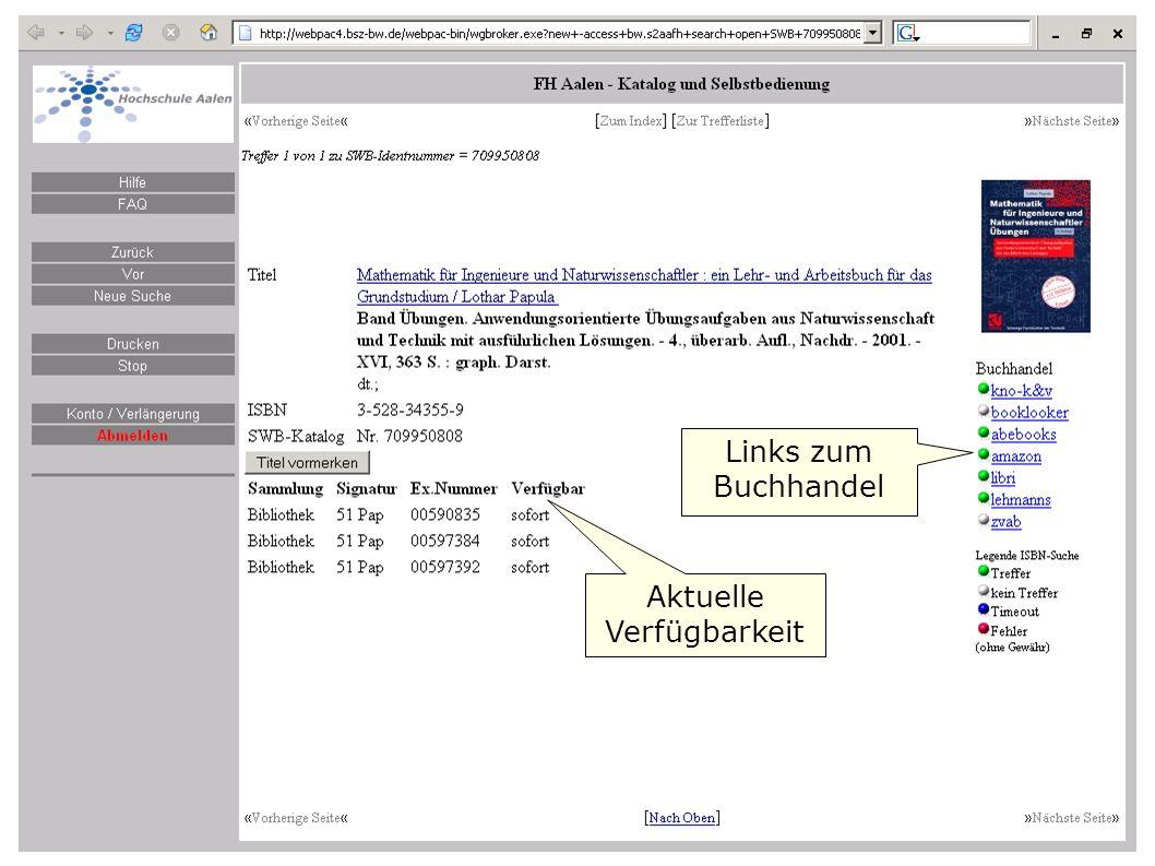 Flagge zeigen im Web W. Heymans, BSZ16 Links zum Buchhandel Aktuelle Verfügbarkeit