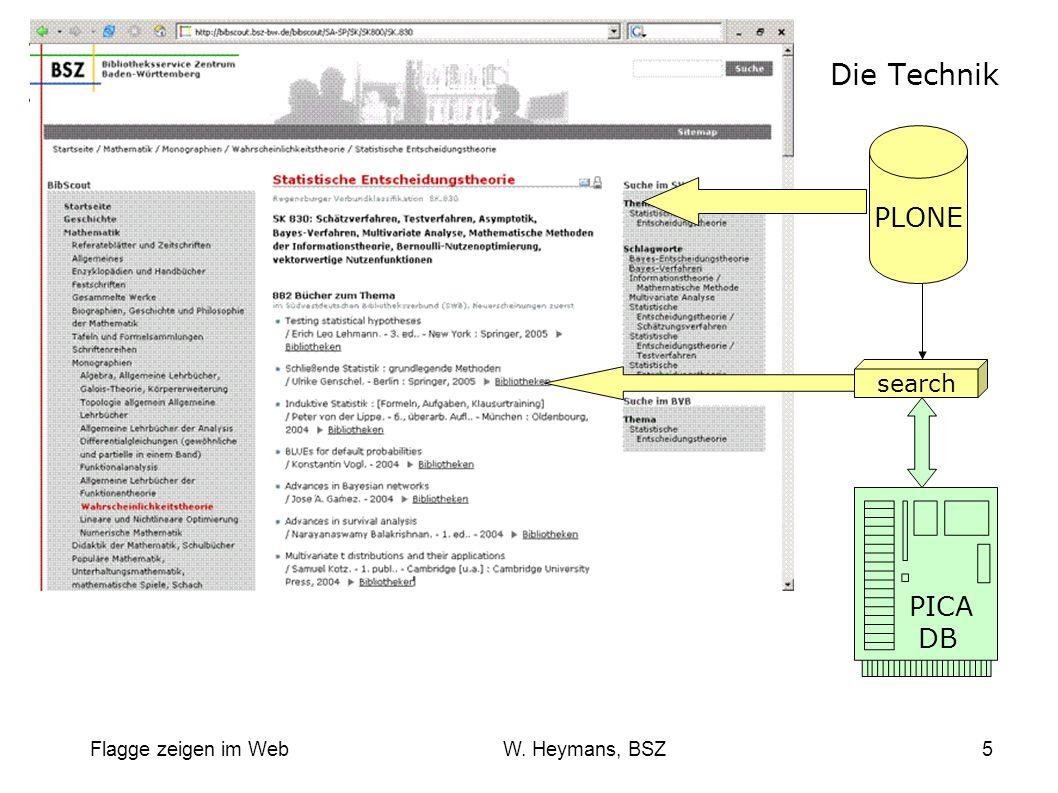 Flagge zeigen im Web W. Heymans, BSZ6
