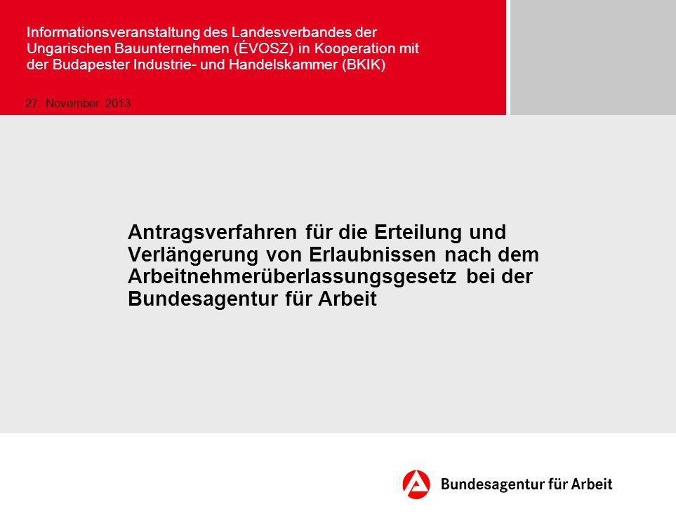Seite 42 November 2013 © Bundesagentur für Arbeit Merkblatt für LAN (§ 11 Abs.