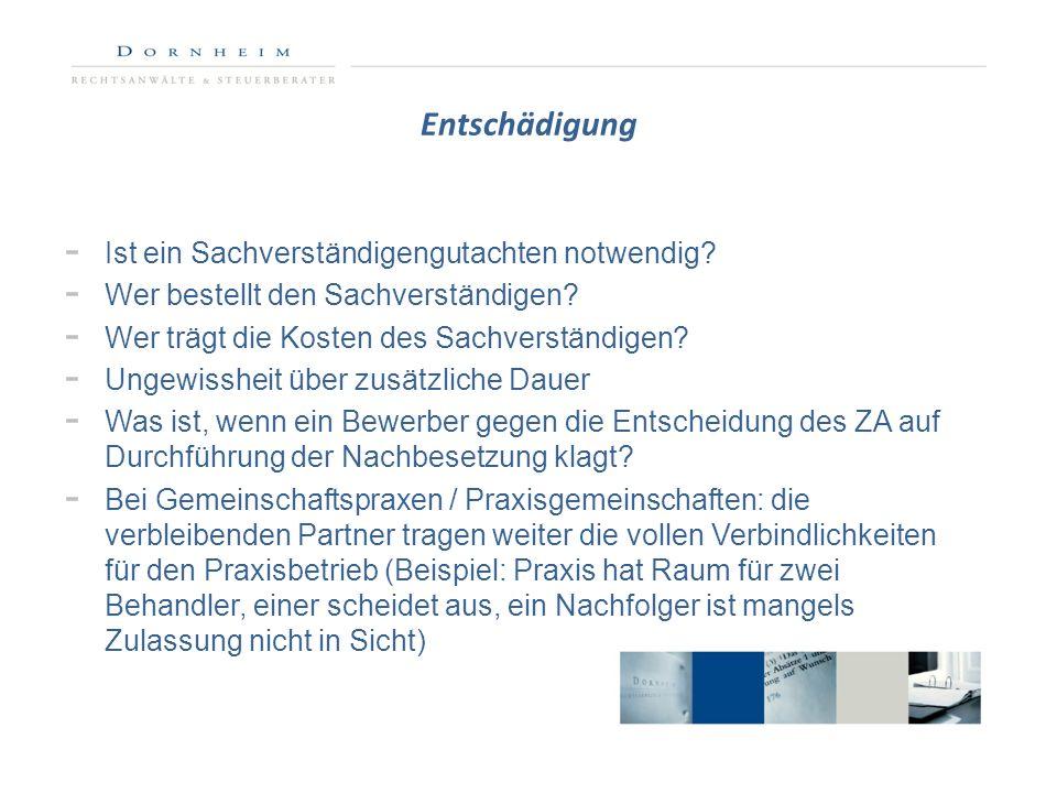 Exkurs: Bedarfsplanung Neufassung der Bedarfsplanungs-Richtlinie zum 01.01.2013 (G-BA v.