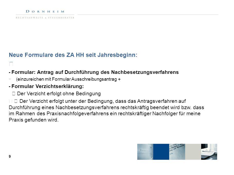 Neue Formulare des ZA HH seit Jahresbeginn: - Formular: Antrag auf Durchführung des Nachbesetzungsverfahrens - (einzureichen mit Formular Ausschreibun