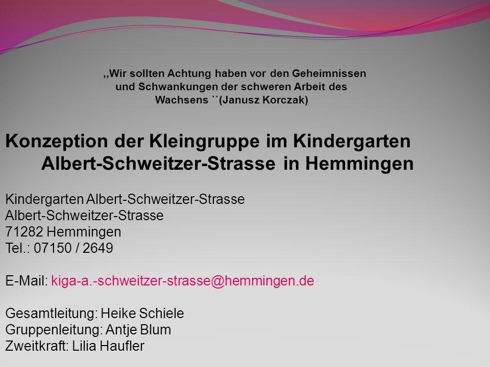 Sprechzeiten: Für Sprechzeiten stehen wir Ihnen gerne nach Vereinbarung zur Verfügung Heike Schiele: 07150/2479 Antje Blum: 07150/ 2649 Aufnahme: Es werden Kleinkinder im Alter von 12-24 Monaten aufgenommen.