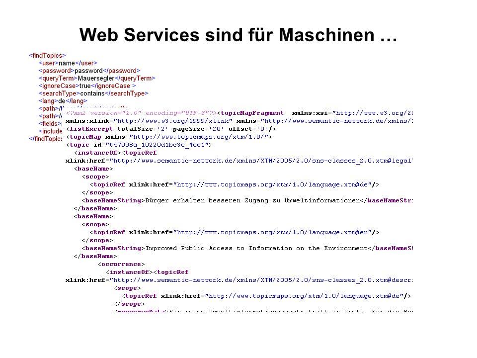 Web Services sind für Maschinen …