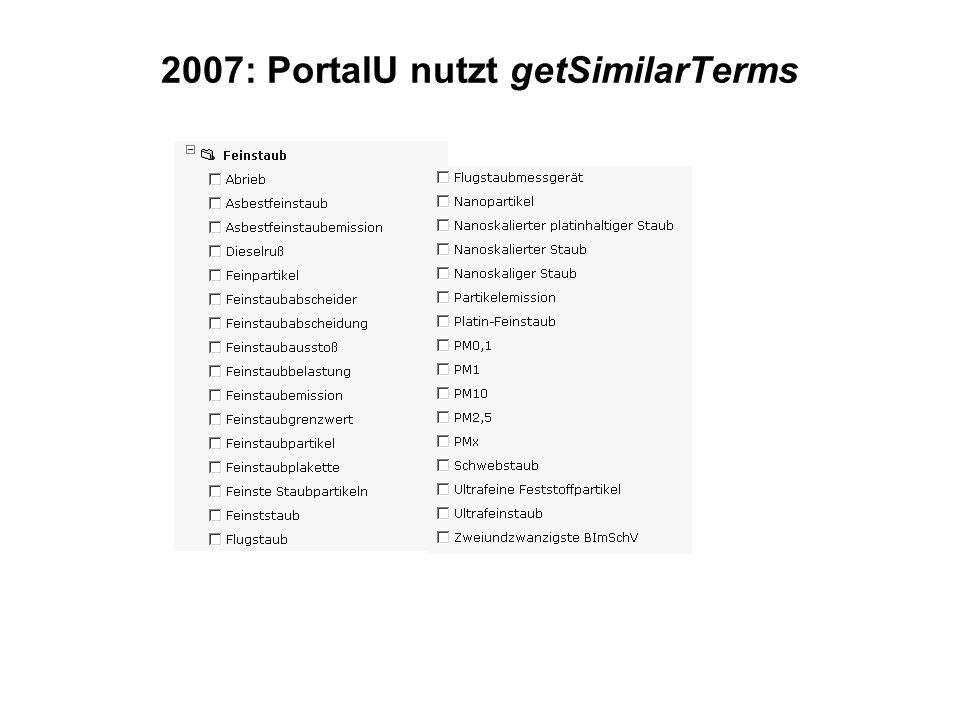 2007: PortalU nutzt getSimilarTerms