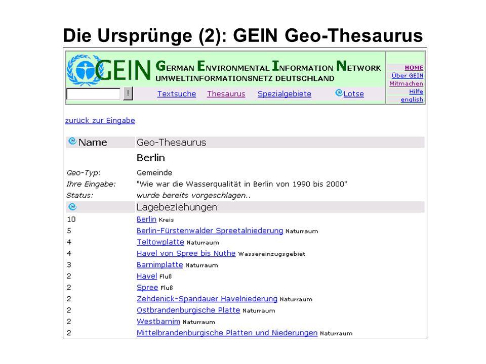 Die Ursprünge (2): GEIN Geo-Thesaurus